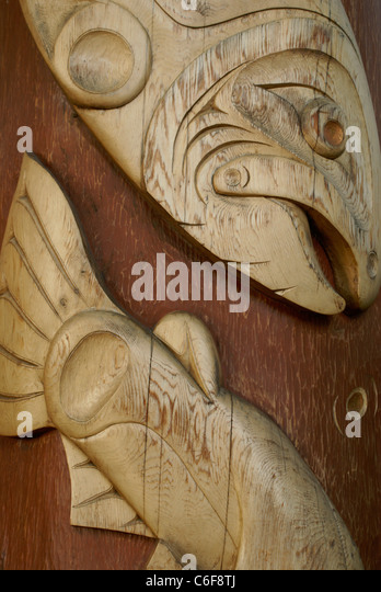 Wood carving british stock photos