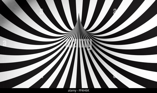 Abstract background with black and white geometric shape - Stock Image