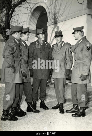New uniforms for the Italian Republican Army, Italy 1957 - Stock Image