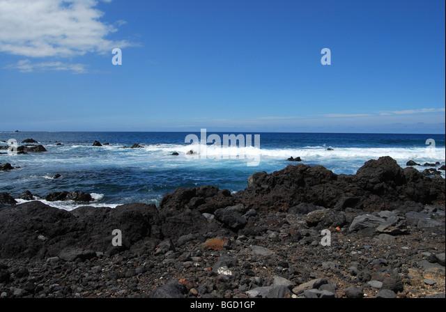 Volcanic beach. Tenerife, Canary Islands - Stock Image