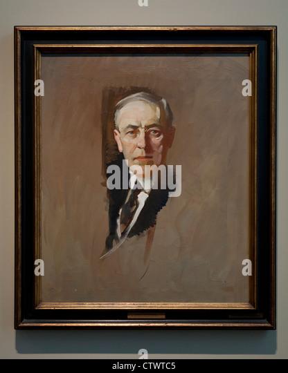 'Woodrow Wilson' by John Christen Johansen, 1919 - oil on canvas - Smithsonian National Gallery of Art, - Stock-Bilder
