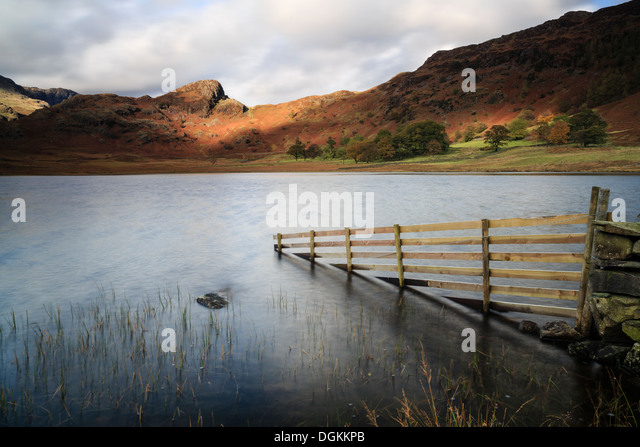 Stormy afternoon light at Blea Tarn in the Lake District. - Stock Image
