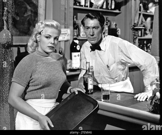 ONE GIRL'S CONFESSION 1953 Columbia film with Cleo Moore and Glen Langan - Stock-Bilder