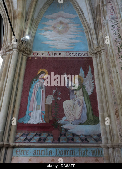Beautiful Dorchester On Thames Abbey Church of St Peter & St Paul Wall painting - Stock Image