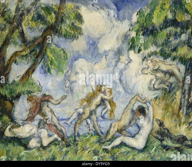 Paul Cezanne The Battle of Love - Stock Image