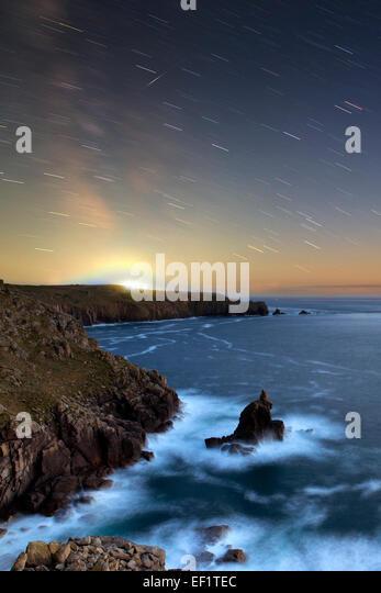 Shooting Star; Land's End; Cornwall; UK - Stock Image