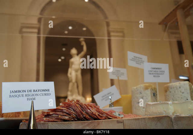 Washington DC National Gallery of Art museum West Building exhibition Garden Cafe Francais French Cuisine buffet - Stock Image