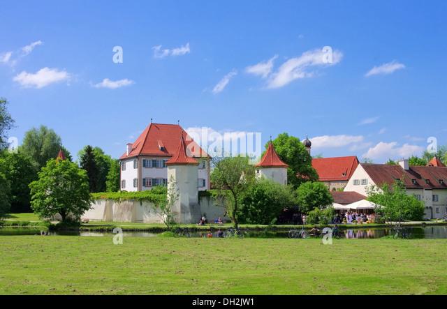 Muenchen Schloss Blutenburg - Munich palace Blutenburg 04 - Stock-Bilder