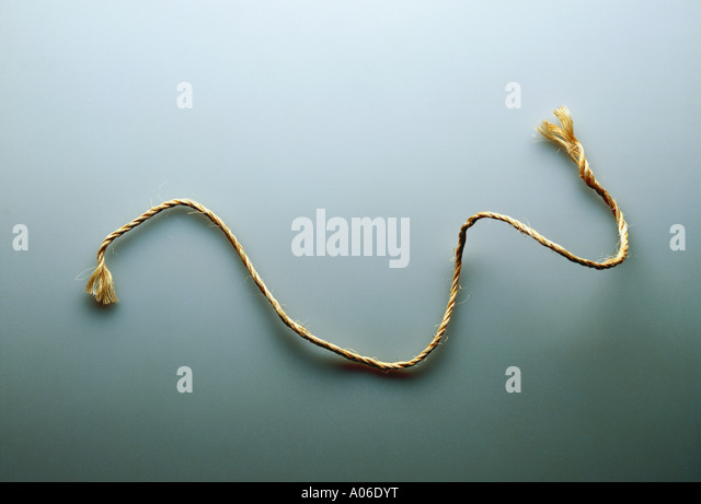 STRING ON A GREY BACKGOUND - Stock Image