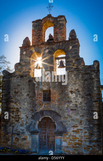 Mission Espada in San Antonio, Texas - Stock Image