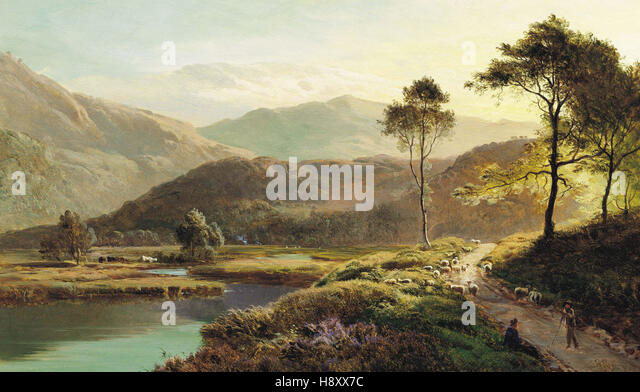 Sidney Richard Percy A View of Ambleside - Stock Image