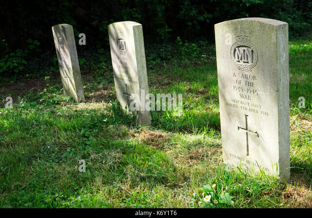 Graves of unknown sailors of the Second World War - Stock Image