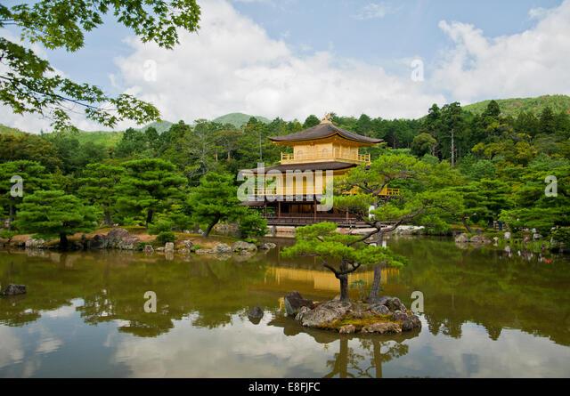 Japan, Kyoto, Kinkaku-ji (Golden Pavilion) - Stock Image