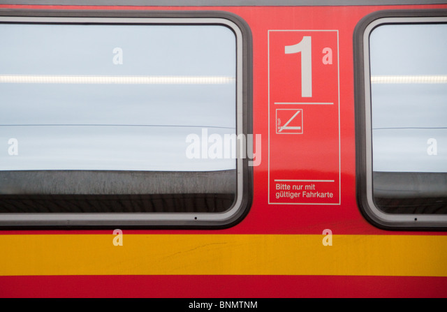German Deutsche Bahn First Class rail carriage - Stock-Bilder