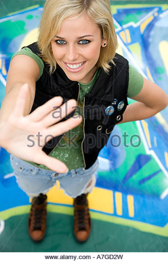 A teenage girl - Stock Image