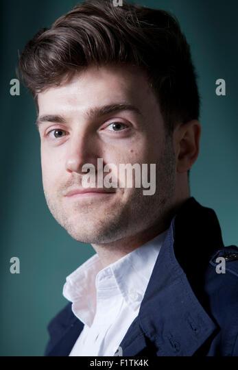 Benjamin Wood, the British novelist, at the Edinburgh International Book Festival 2015. Edinburgh, Scotland. 19th - Stock Image