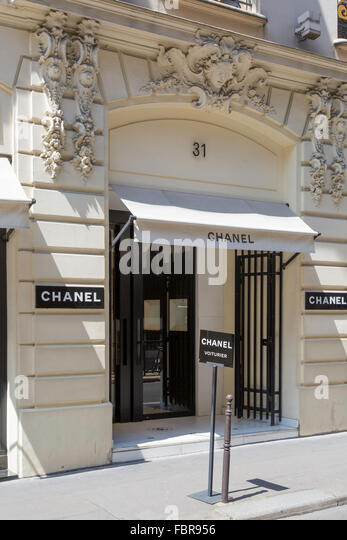 Haute couture by chanel stock photos haute couture by for Chanel locations in paris