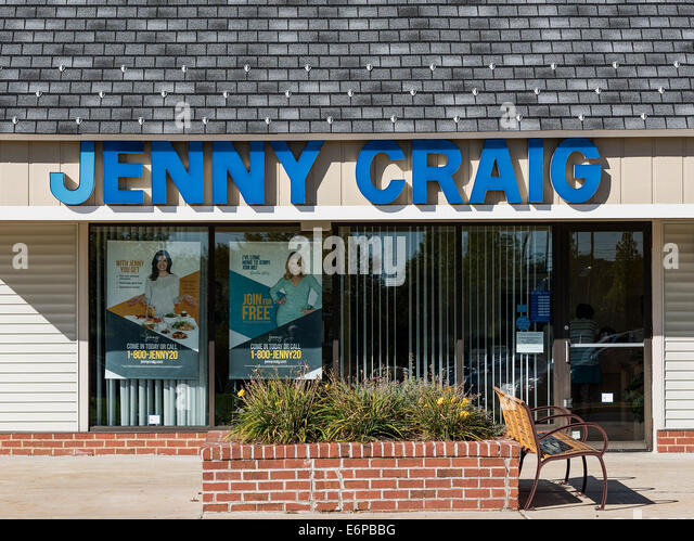 Jenny Craig location exterior, Mt. Laural, New Jersey, USA - Stock Image