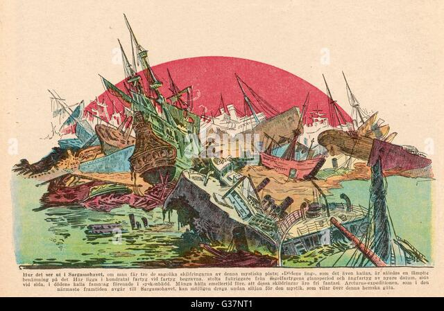 The legend of the Sargasso Sea, where all the wrecks of  the ocean end up...          Date: 1925 - Stock Image