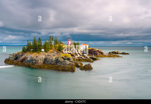 East Quoddy (Head Harbour) Lighthouse, Campobello Island, New Brunswick, Canada, North America - Stock Image