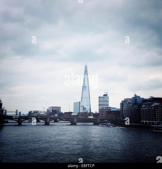 UK, England, London Skyline with Shard - Stock Image