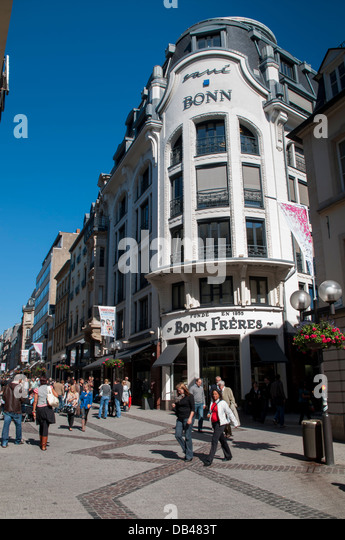 Luxembourg shopping stock photos luxembourg shopping for Caa luxembourg