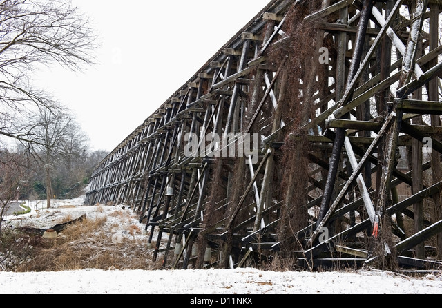 Railroad Trestle; Tuscaloosa Alabama United States Of America - Stock Image