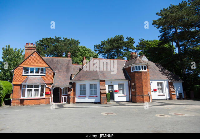Cottages at Bletchley Park, Buckinghamshire - Stock Image