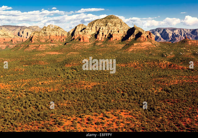 Thunder Mountain, Sedona, Arizona, America, USA - Stock Image