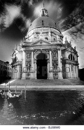 The Basilica of Santa Maria della Salute - Stock-Bilder