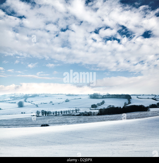 country snow scene - Stock Image
