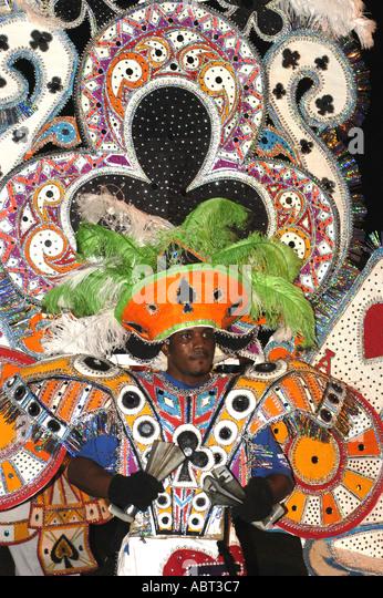 BAHAMAS Junkanoo Parade Bright Costume - Stock Image