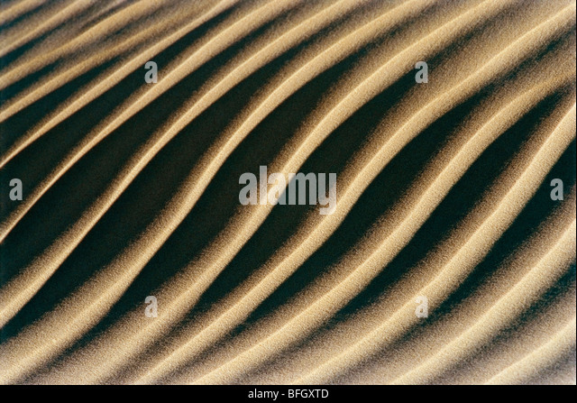 Grooves in sand - Stock Image