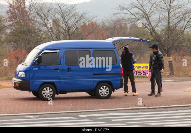 Minivan - South Korea - Stock Image