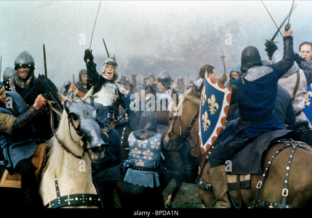 """the war against france in branaghs version of shakespeares henry v Near the climax of world war ii, laurence olivier's henry v launched the first major motion picture version of shakespeare on film his henry v spoke to an embattled  chorus tells us that henry v's descendants """"lost france and made his england bleed"""" (epilogue, line 12)."""