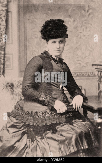 Portrait of a Victorian Lady - Stock Image