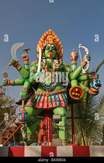 Kali Amman statue Madurai Tamil Nadu India - Stock Image