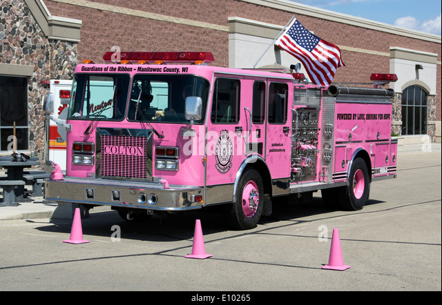 Pink Fire Truck Stock Photos Amp Pink Fire Truck Stock