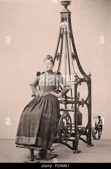 Victorian era exercise machine - Fitness - Sport - Indoor - Stock Image