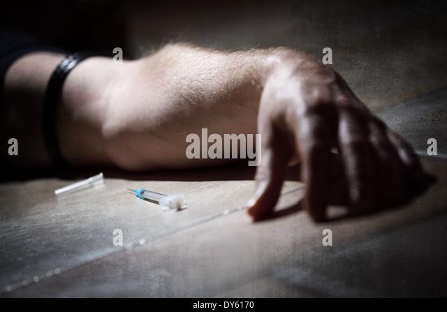Drugs abuse - Stock Image