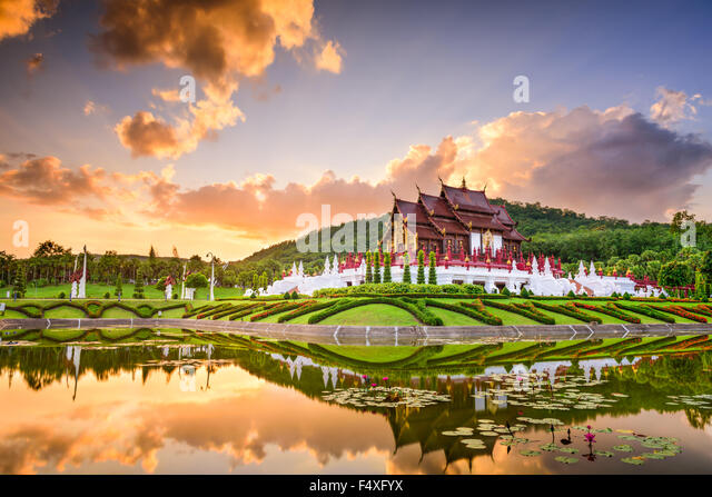 Chiang Mai, Thailand at Royal Flora Ratchaphruek Park. - Stock Image