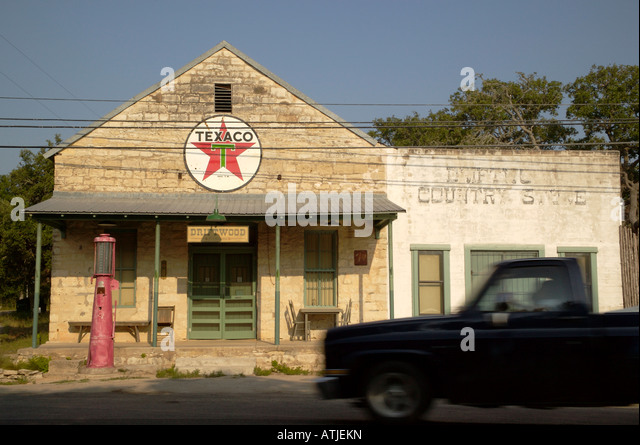 Old texaco gas station stock photos old texaco gas for Old fashioned general store near me