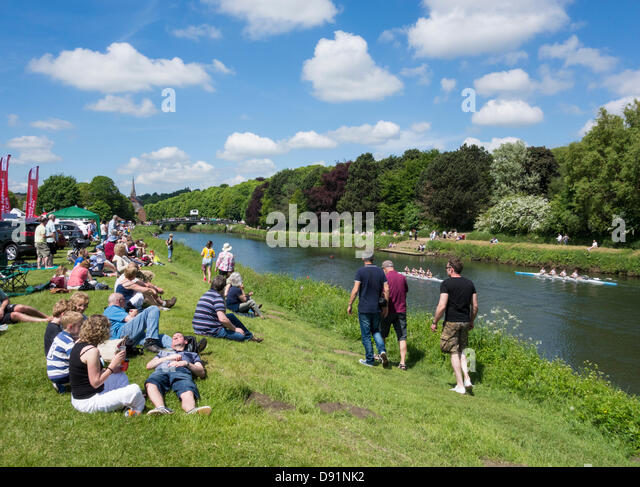 Durham rowing Regatta, Durham, England, UK - Stock Image