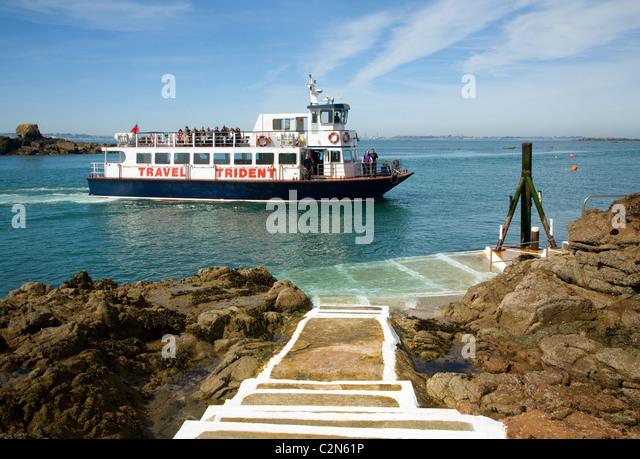 Trident Travel ferry boat Rosaire Steps Herm island Channel islands - Stock-Bilder