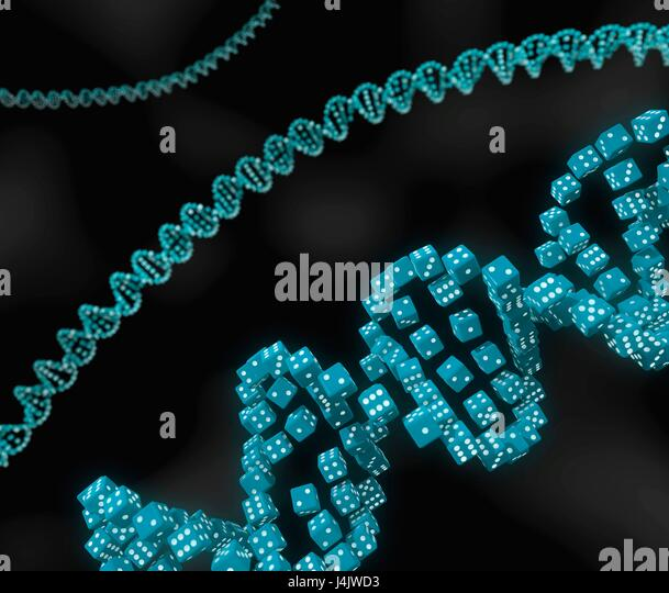 Conceptual image illustrating the essential role that randomness plays in critical biological processes. Computer - Stock-Bilder