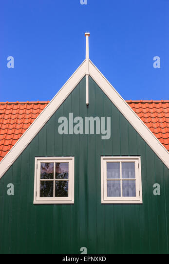 The old historic town of Marken, north of Amsterdam, the Netherlands. - Stock Image