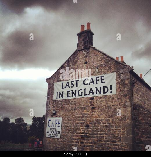 Last cafe in England! - Stock Image