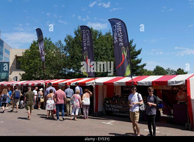 Food Festival, Cardiff Bay, Cardiff, Wales, UK. - Stock Image