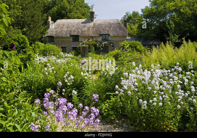 Hardy's Cottage, the birthplace in 1840 of novelist and poet Thomas Hardy , at Higher Brockhampton, near Dorchester, - Stock-Bilder
