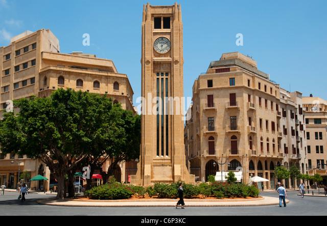 Etoile Square. Beirut Down Town. Lebanon. - Stock Image